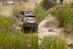 Ensayo del jeep Fotografía de archivo