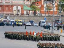 Ensayo general de Victory Parade militar Imagenes de archivo