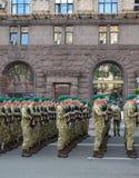Ensayo militar del desfile Imagen de archivo