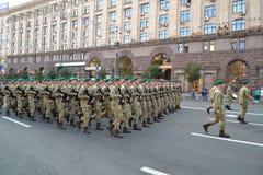 Ensayo militar del desfile Imagen de archivo libre de regalías