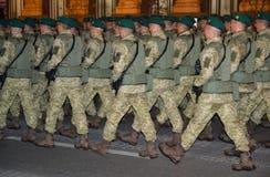 Ensayo militar del desfile Foto de archivo