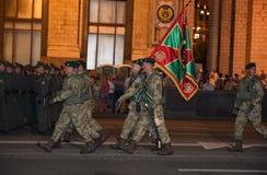 Ensayo militar del desfile Imágenes de archivo libres de regalías