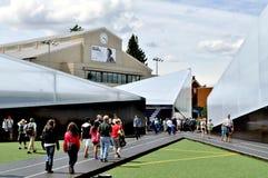 Ensayos olímpicos del festival 2012 del ventilador Foto de archivo libre de regalías