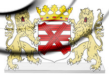 Enschede coat of arms, Netherlands. Royalty Free Stock Images