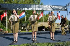 Military army show stock photography