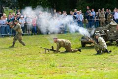 Military army show stock photo