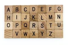 Enseñanza del alfabeto de la educación de las letras de molde Imágenes de archivo libres de regalías