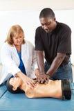 Enseñanza para adultos - CPR de enseñanza Fotografía de archivo