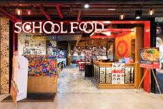Enseñe el restaurante de la comida en el centro de Tailandia, Bangkok Foto de archivo