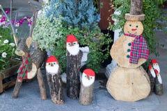 Enseñe las decoraciones para el día de fiesta de la Navidad y del Año Nuevo Fotos de archivo
