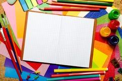Accesorios de la escuela y de la oficina Fotografía de archivo libre de regalías