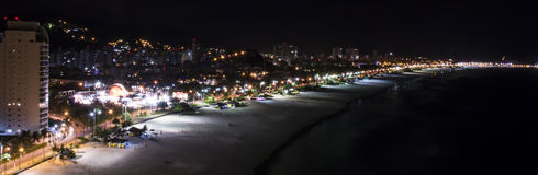 Enseada's beach panorama at GUA BRZ Stock Photography
