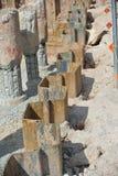Ensecadeira da pilha da chapa de aço de parede de retenção Fotos de Stock Royalty Free