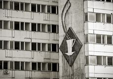 Enseigne au néon cassé de la RDA à Berlin Images libres de droits