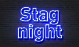 Enseigne au néon de nuit de mâle sur le fond de mur de briques Photographie stock libre de droits