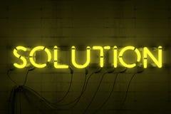 Enseigne au néon de solution photo libre de droits