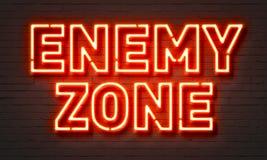 Enseigne au néon ennemi de zone illustration de vecteur