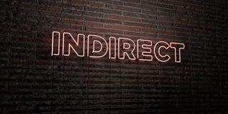 - Enseigne au néon réaliste sur le fond de mur de briques - 3D INDIRECT a rendu l'image courante gratuite de redevance illustration stock