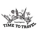 Enseigne d'agence de voyages Fond de voyage et de tourisme Points de repère célèbres du monde localisés dans le monde entier Tiré illustration stock