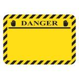 Enseigne d'avertissement de danger de rectangle vide illustration libre de droits