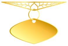 Enseigne d'or d'élément de conception de médaillon illustration stock