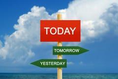 Aujourd'hui demain hier photographie stock libre de droits