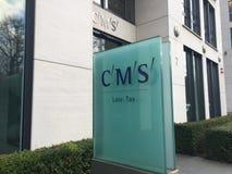 Enseigne de cabinet d'avocats de CMS images stock
