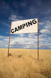 Enseigne de camping Photo stock