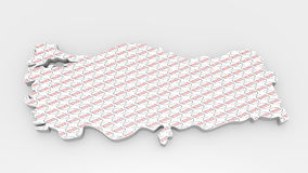 Enseigne de carte de la Turquie Oui texture de timbre Images libres de droits