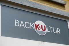 Enseigne de K et d'U Backkultur Images libres de droits