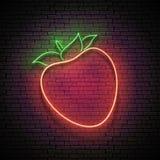 Enseigne de lueur de cru avec le kaki, fruit organique illustration libre de droits