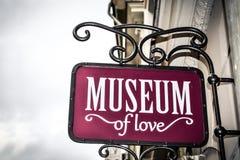 Enseigne de musée Photographie stock libre de droits