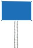Enseigne de panneau de signe d'infos de direction d'entraînement de jonction de route d'autoroute, grand Signage bleu vide vide d Photos libres de droits
