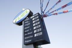 Enseigne de prix du gaz Image libre de droits