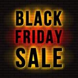 Enseigne de vente de Black Friday illustration libre de droits