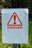 Enseigne vide de danger Photographie stock