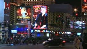 Enseignes au néon de Las Vegas banque de vidéos