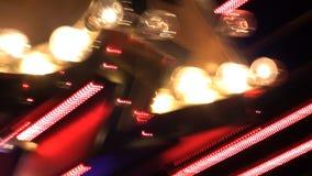 Enseignes au néon et lumières abstraits de Vegas banque de vidéos
