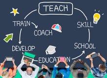 Enseignez l'entraîneur Training Concept d'éducation de compétence illustration stock