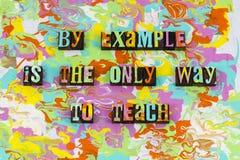 Enseignez l'inspiration de direction d'exemple pour motiver image stock