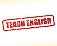 Enseignez le timbre anglais des textes Image libre de droits