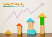 Enseignez les enfants pour enregistrer des finances photo stock