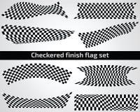 Ensemble à carreaux de drapeau de finition Photos stock