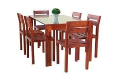 Ensemble élégant classique de table de salle à manger image libre de droits