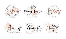 Ensemble élégant de logo de monogramme d'organisateur illustration de vecteur