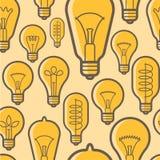 Ensemble électrique d'icône de vecteur d'ampoule Photographie stock libre de droits