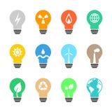 Ensemble énergétique d'ampoule Photo stock