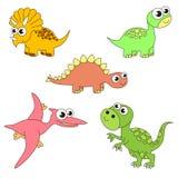 Ensemble énorme de Dino de dinosaurus, la collection du calibre de livre de coloriage, le groupe d'éléments numériques d'ensemble Photos libres de droits