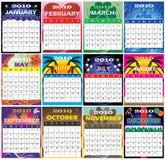 Ensemble 2010 de 12 calendriers orientés image stock