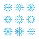 Ensemble abstrait d'icône de l'eau Signes de climatisation et de nettoyage Insignes de bleu d'humidité d'air Logo liquide, formes Illustration Libre de Droits